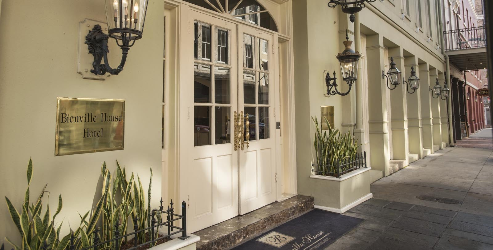 Image of exterior entryway at Bienville House, 1835, Member of Historic Hotels of America, in New Orleans, Louisiana, Discover