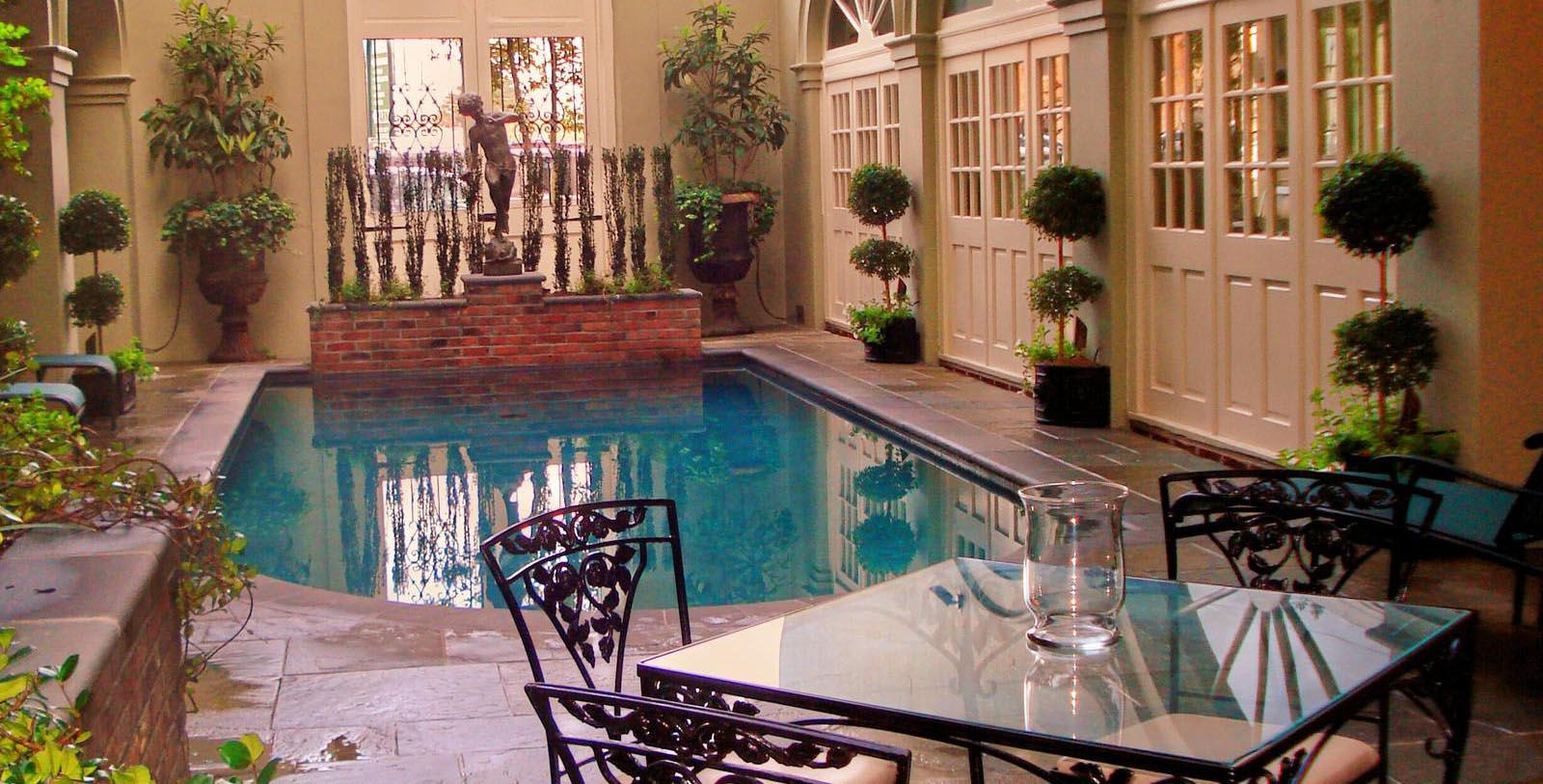 Image of interior pool at Bienville House, 1835, Member of Historic Hotels of America, in New Orleans, Louisiana, Explore