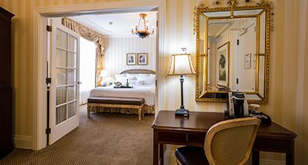 Accommodations:      Hotel Monteleone  in New Orleans