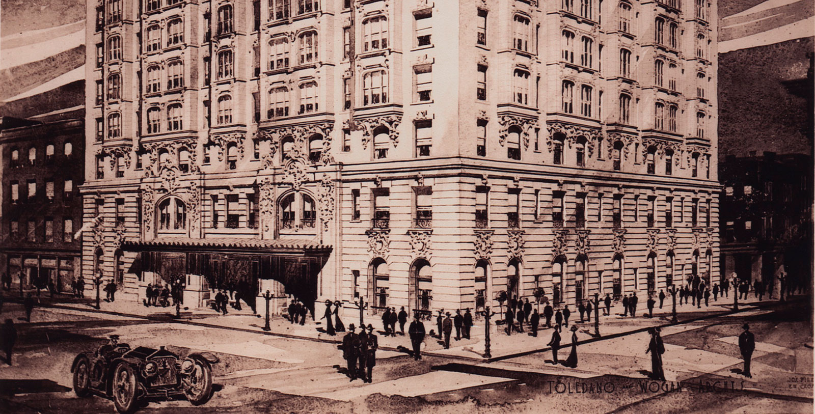 Image of Historic Exterior, Hotel Monteleone in New Orleans, Louisiana, 1886, Member of Historic Hotels of America, Discover