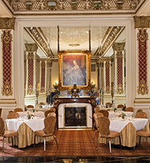 Dining at      Le Pavillon Hotel  in New Orleans
