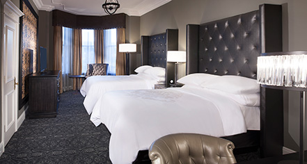 Accommodations:      Le Pavillon Hotel  in New Orleans