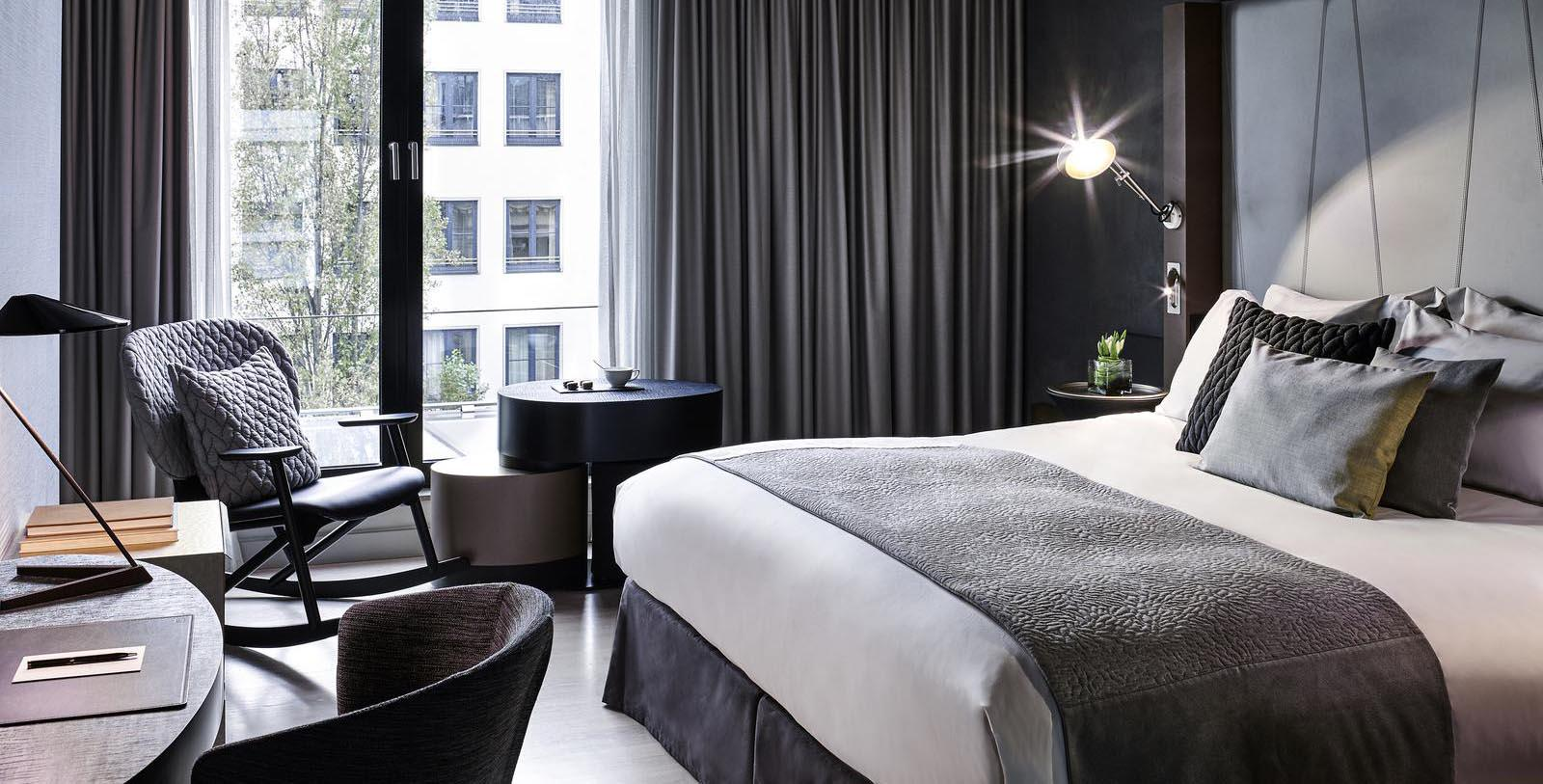 Image of Guestroom at Sofitel Munich Bayerpost, 1896, Member of Historic Hotels Worldwide, in Munich, Germany, Location Map