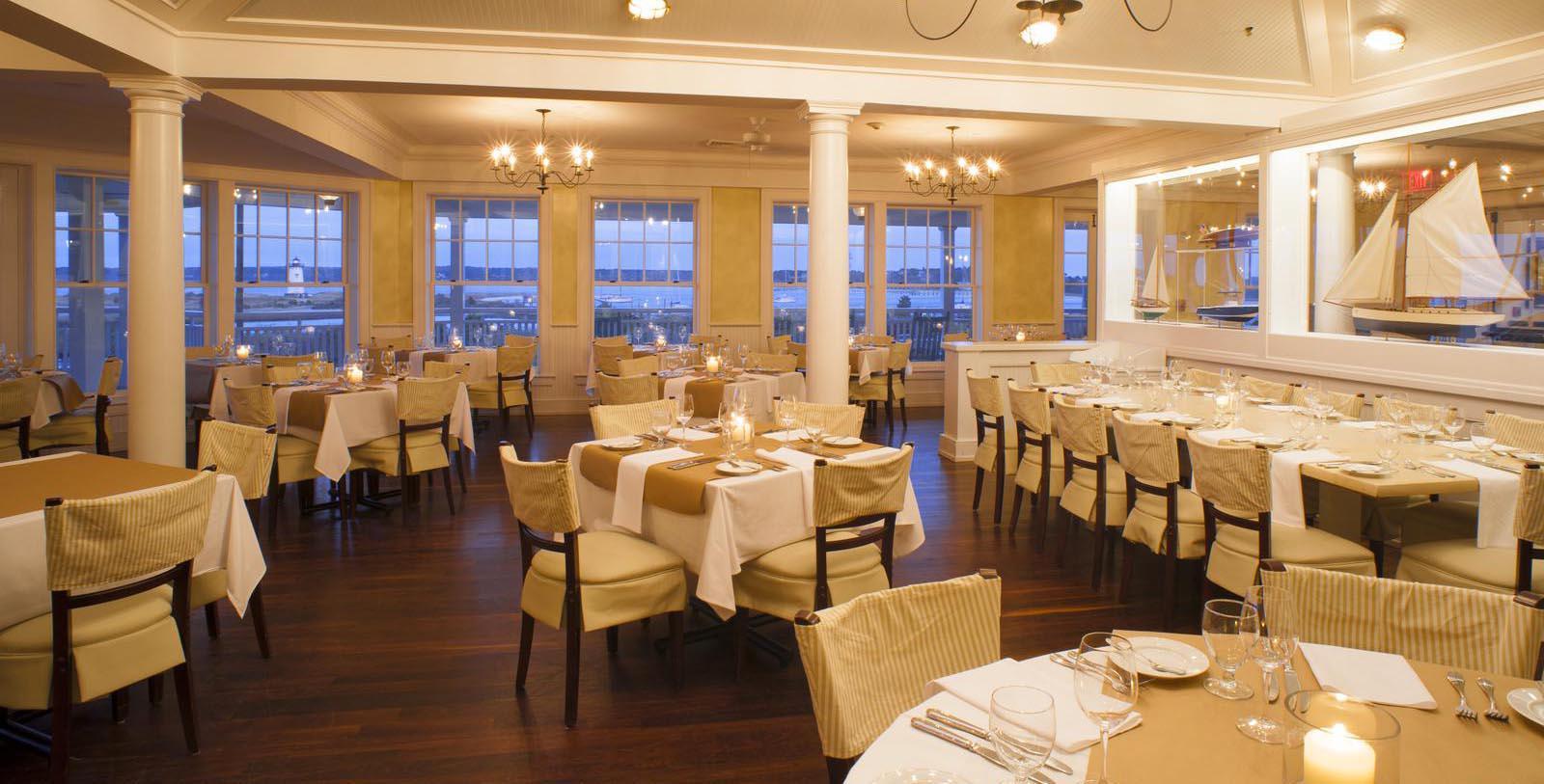 Image of dining room Harbor View Hotel of Martha's Vineyard, 1891, Member of Historic Hotels of America, Edgartown, Massachusetts, Experience