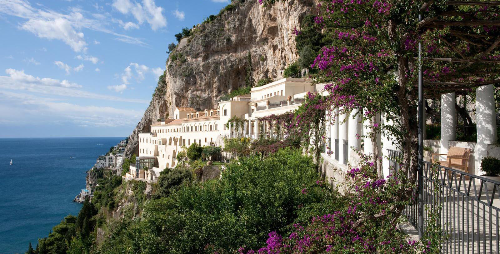Image of Hotel Exterior NH Collection Grand Hotel Convento di Amalfi, 1212 Member of Historic Hotels Worldwide, in Amalfi, Italy, Special Offers, Discounted Rates, Families, Romantic Escape, Honeymoons, Anniversaries, Reunions