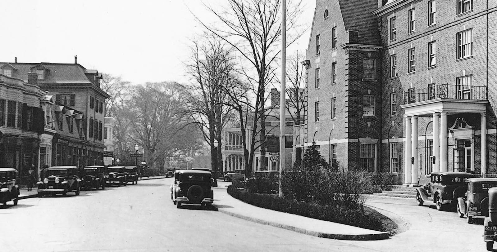 Historic Image of Exterior of The Hotel Viking, 1926, Member of Historic Hotels of America, in Newport, Rhode Island, Discover
