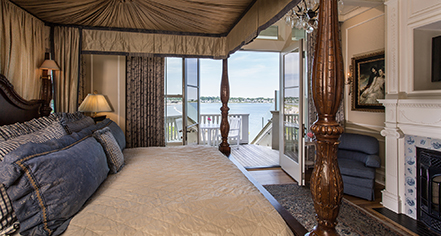 Accommodations:      The Chanler at Cliff Walk  in Newport