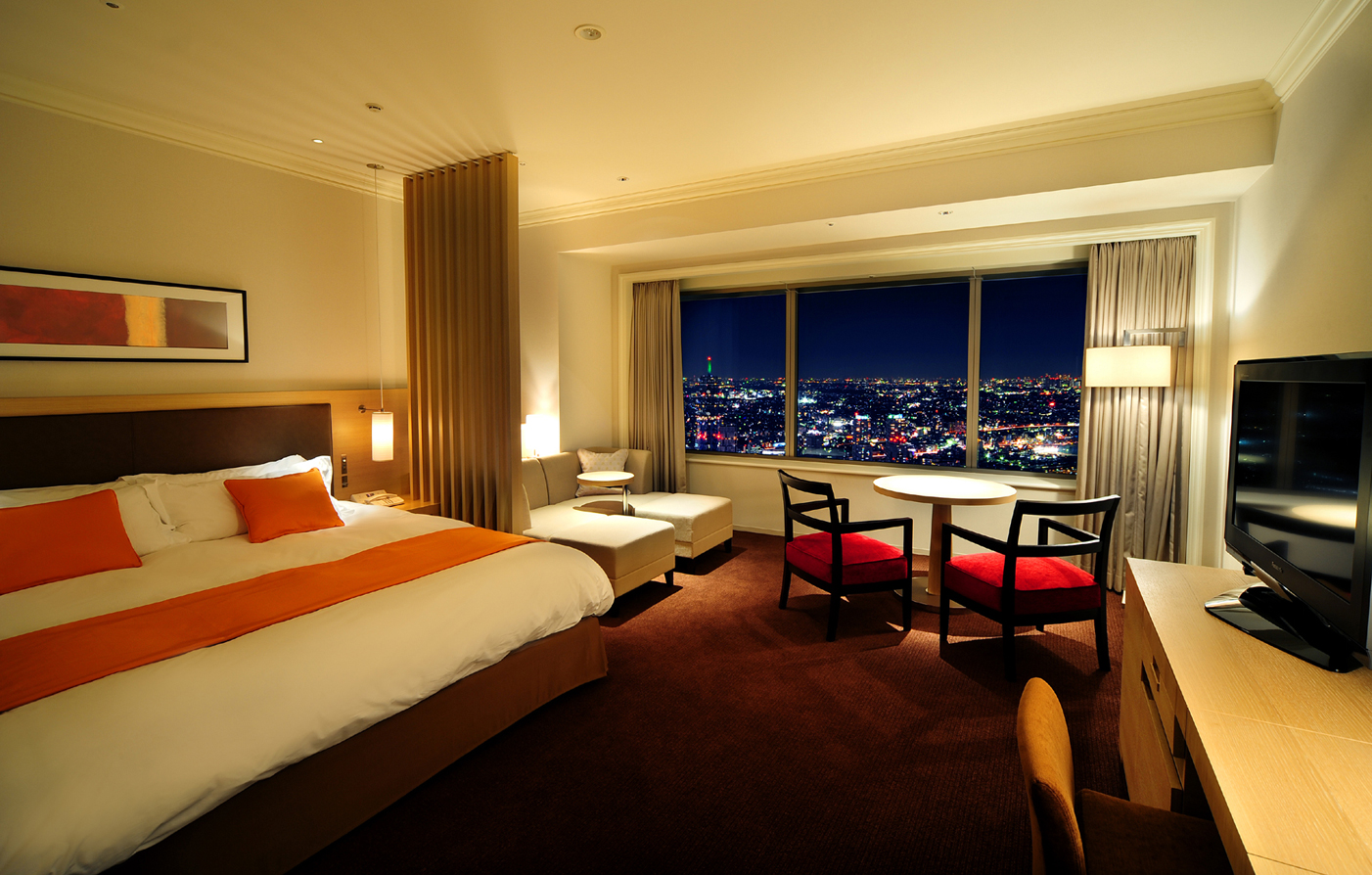 Accommodations:      Yokohama Royal Park Hotel  in Yokohama