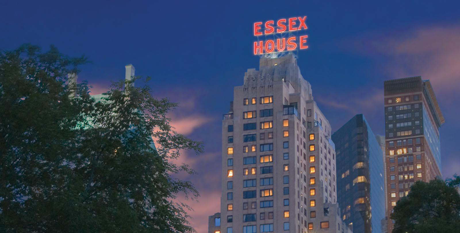 Image of Exterior at Night, JW Marriott Essex House New York, New York, 1931, Member of Historic Hotels of America, Overview