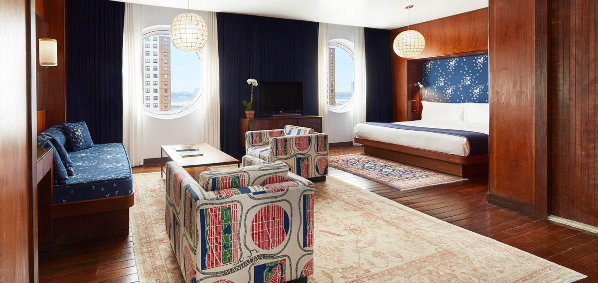 Accommodations:      The Maritime Hotel  in New York