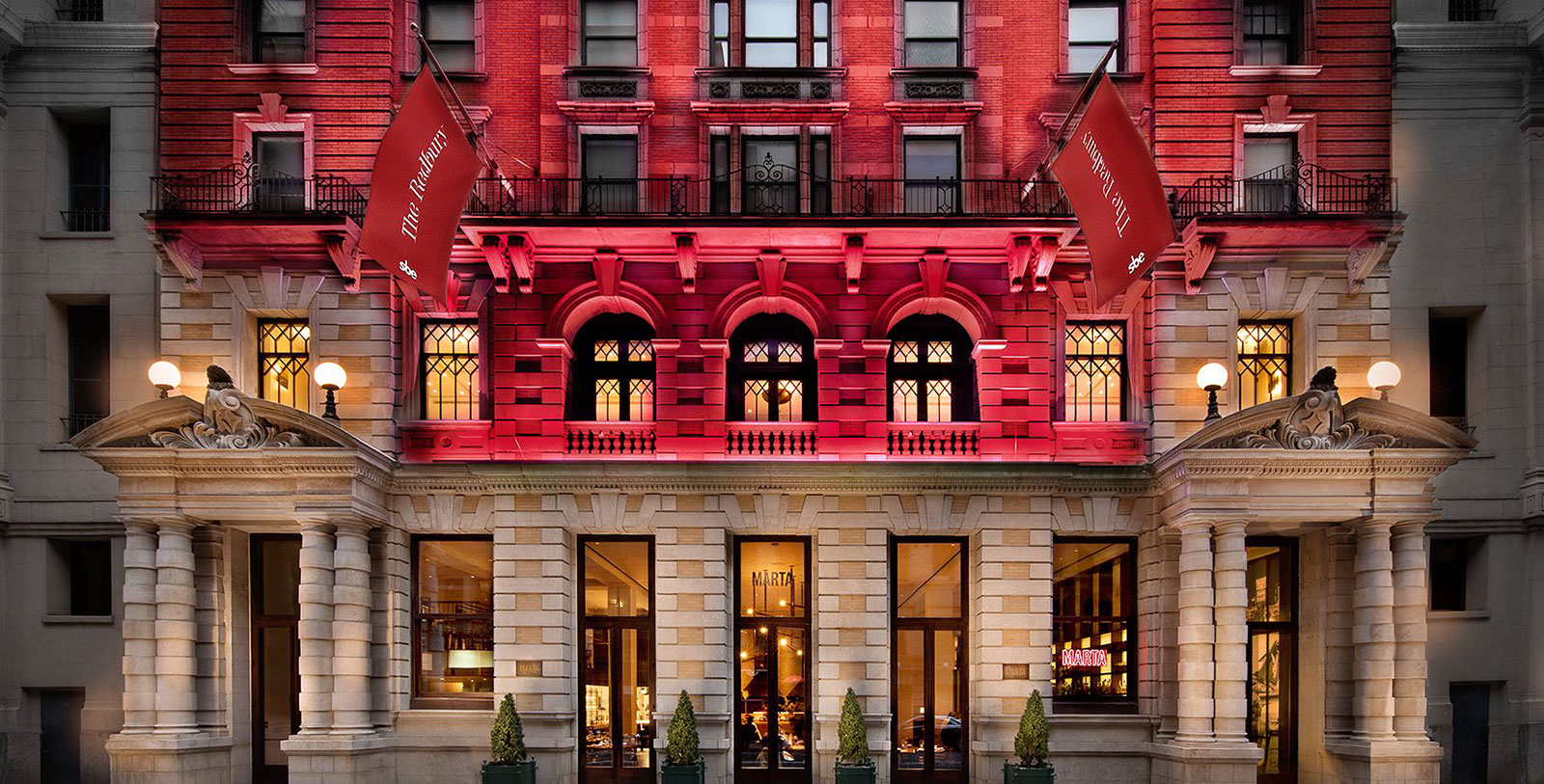 Image of Night Exterior The Redbury New York, 1903, Member of Historic Hotels of America, in New York, New York, Discover