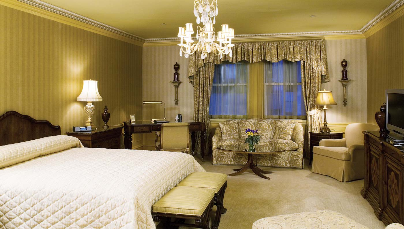 Accommodations:      The Sherry-Netherland  in New York