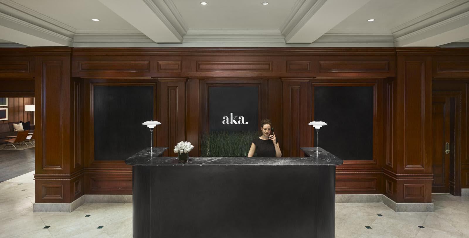 Image of Hotel Lobby Front Desk at AKA Sutton Place, 1929, Member of Historic Hotels of America, in New York, New York, Explore