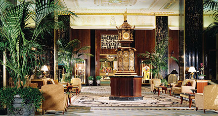 Dining at      The Waldorf - Astoria Hotel  in New York