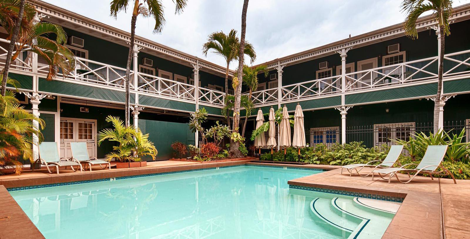 Image of Pool Pioneer Inn, 1901, Member Historic Hotels of America, in Lahaina, Hawaii, Experience