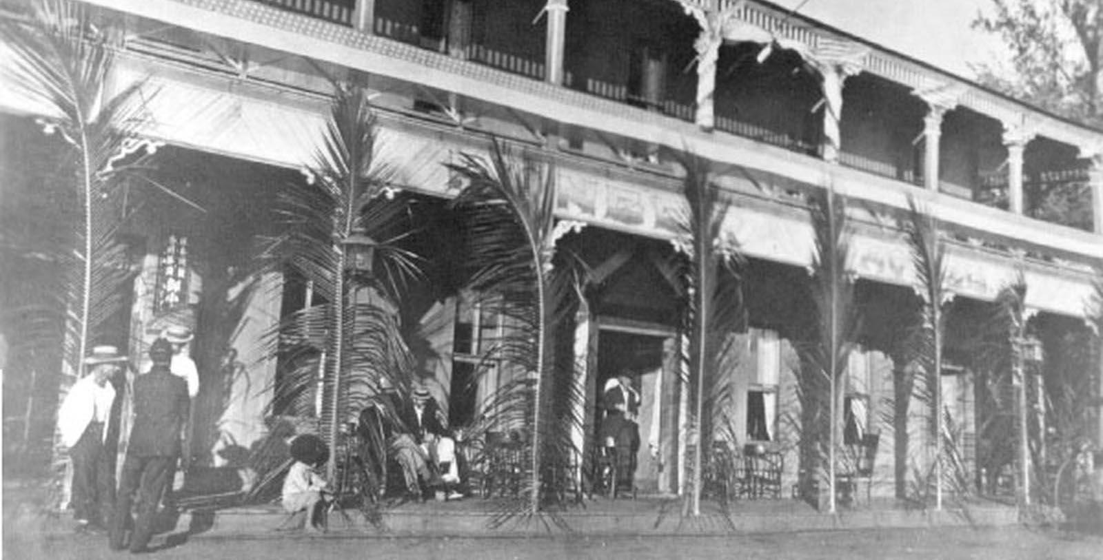 Historic Image of Exterior Pioneer Inn, 1901, Member of Historic Hotels of America, in Lahaina, Hawaii, Discover