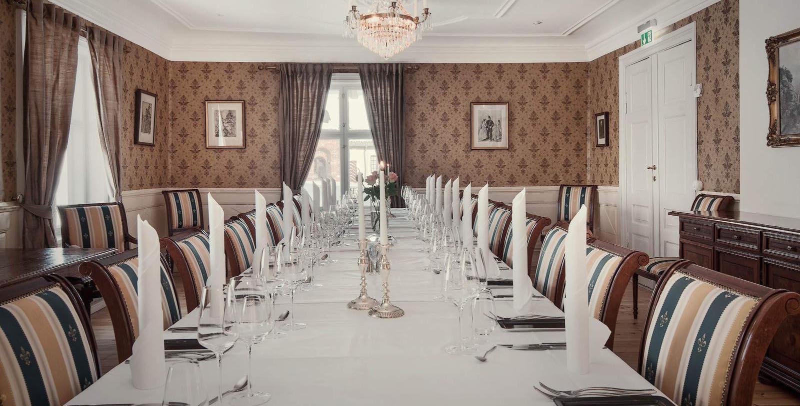 Image of Private Dining Room at Festningen Castle Hotel & Resort, 1673, Member of Historic Hotels Worldwide, in Kongsvinger, Norway, Taste