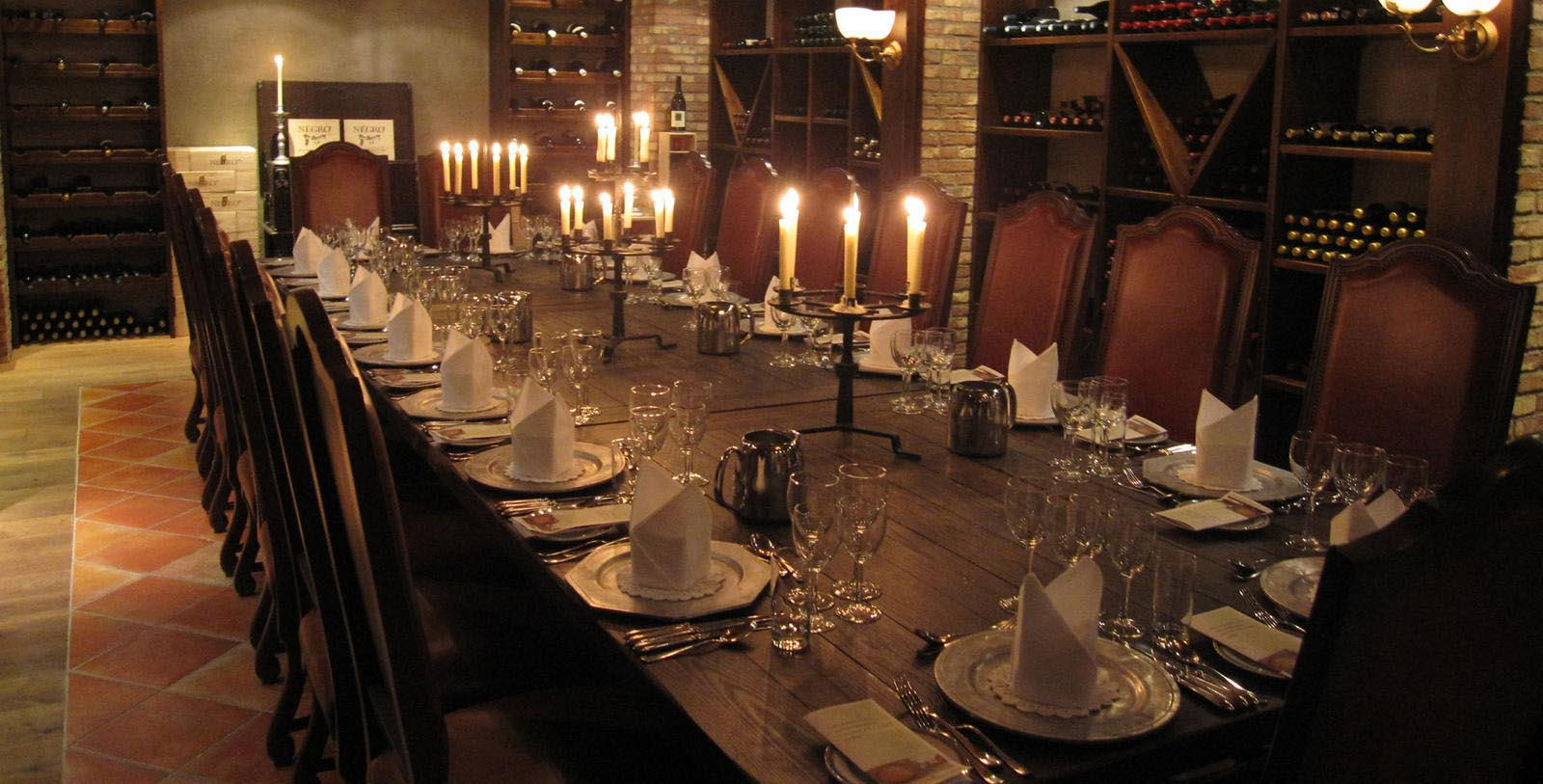 Image of Elegant Meal in Wine Cellar Losby Gods, 1744, Member of Historic Hotels Worldwide, in Finstadjordet, Norway, Taste