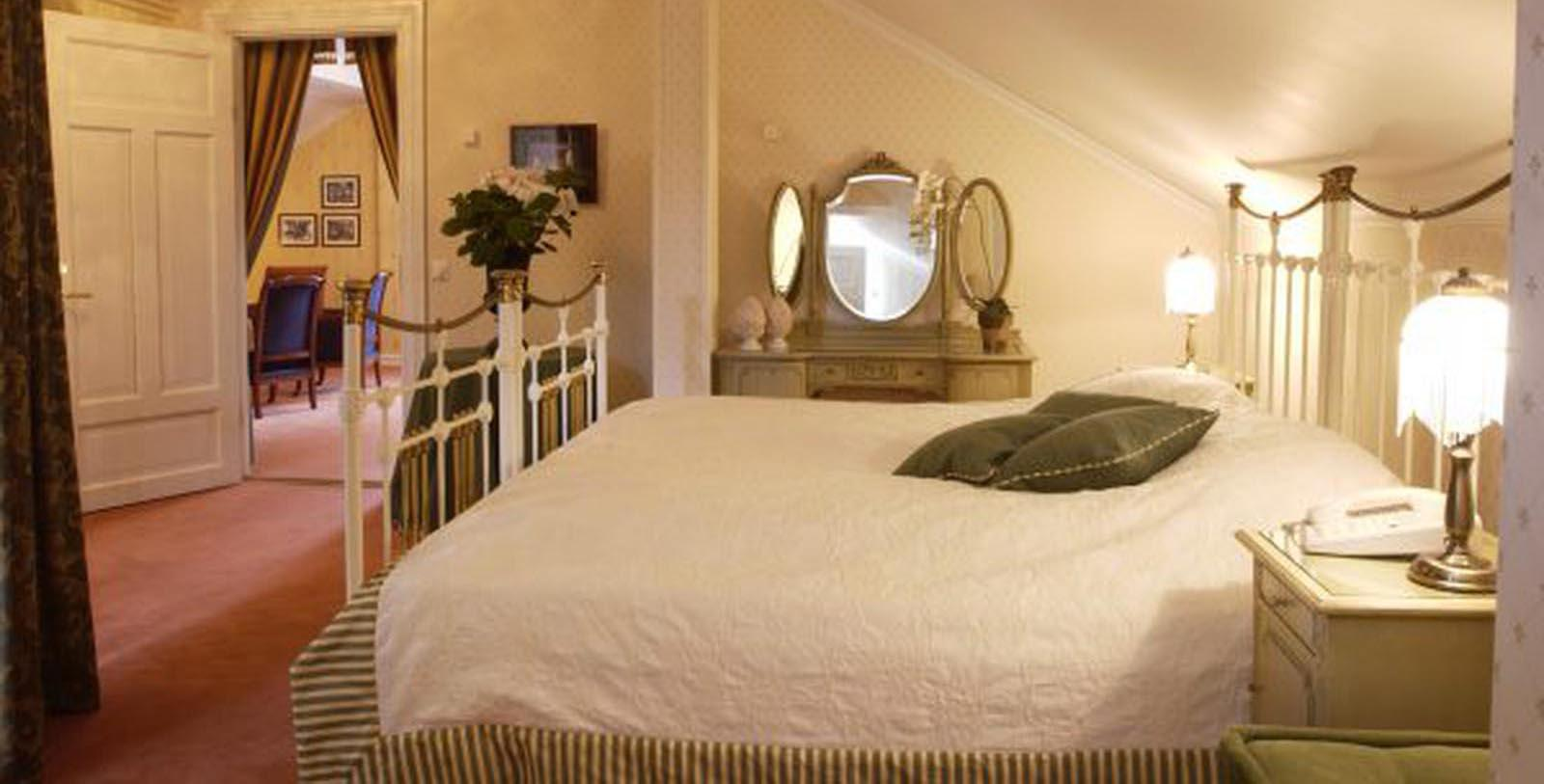 Image of Guestroom Interior Losby Gods, 1744, Member of Historic Hotels Worldwide, in Finstadjordet, Norway, Location