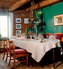 Dining at      Sundvolden Hotel  in Krokkleiva