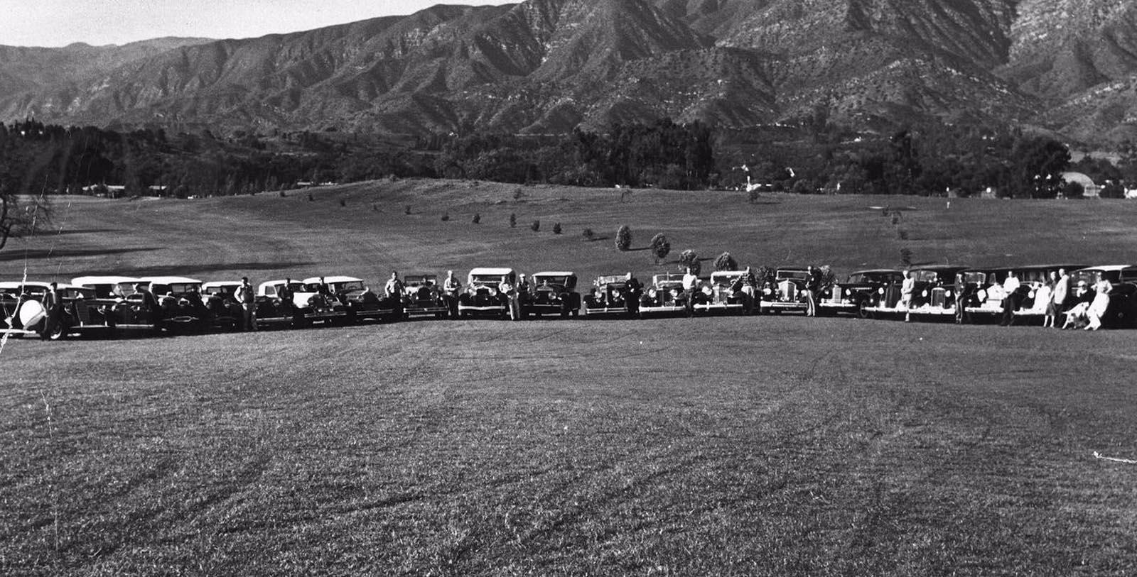 Image of Historic Hotel Grounds with Cars, Ojai Valley Inn, Ojai, California, 1923, Member of Historic Hotels of America, Discover