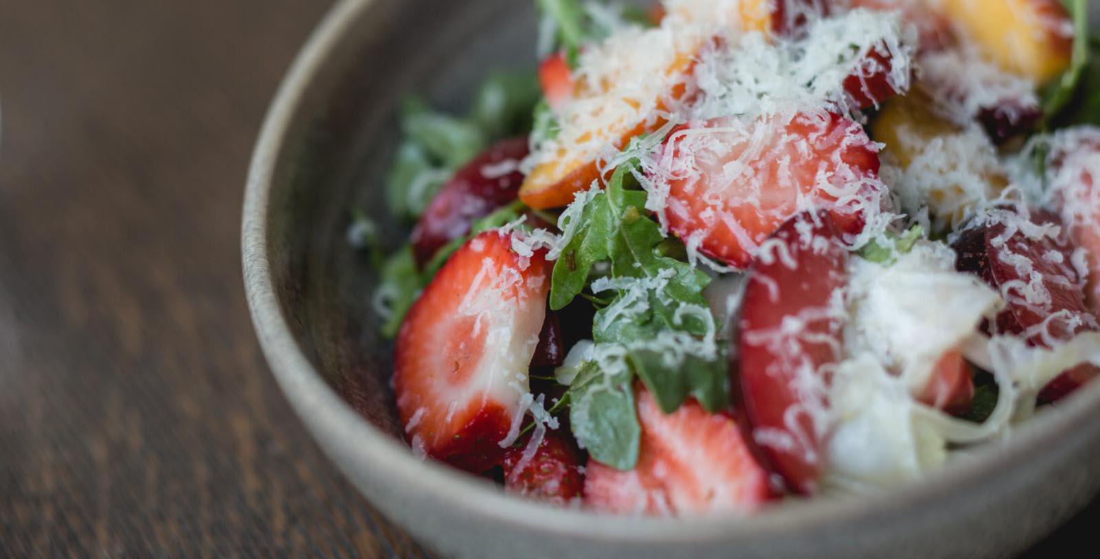 Image of Strawberrry Salad, Ojai Valley Inn, Ojai, California, 1923, Member of Historic Hotels of America, Taste