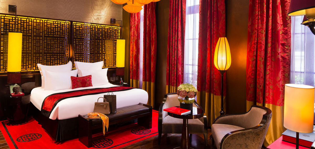 Accommodations:      Buddha Bar Hotel Paris  in Paris