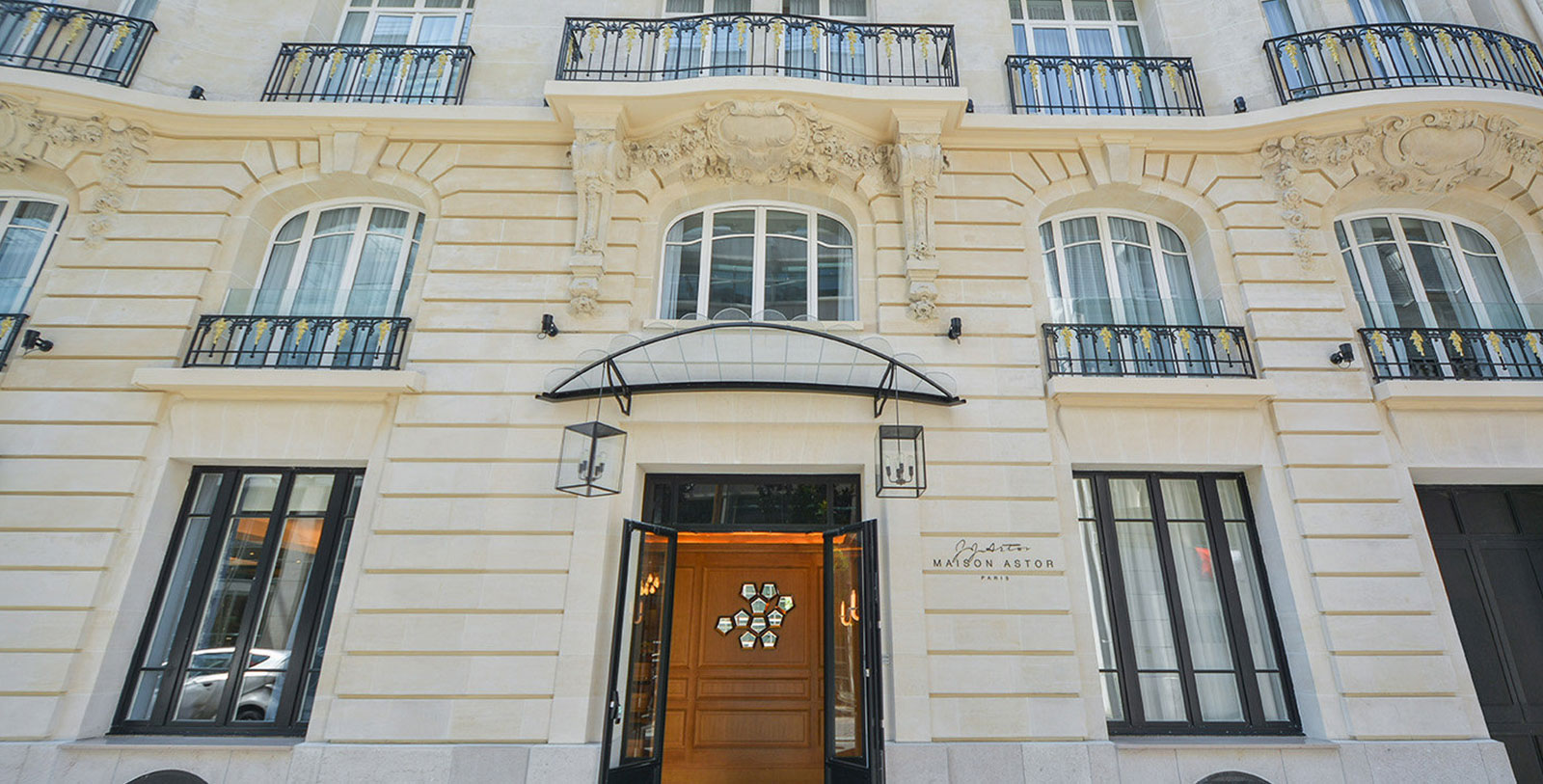 Image of Hotel Entrance Maison Astor Paris, Curio Collection by Hilton, 1907, Member of Historic Hotels Worldwide, in Paris, France, Overview