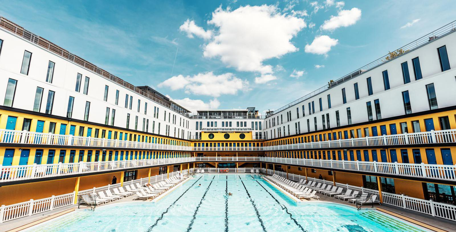 Image of Pool Hôtel Molitor Paris - MGallery by Sofitel, 1929, Member of Historic Hotels Worldwide, in Paris, France, Special Offers, Discounted Rates, Families, Romantic Escape, Honeymoons, Anniversaries, Reunions