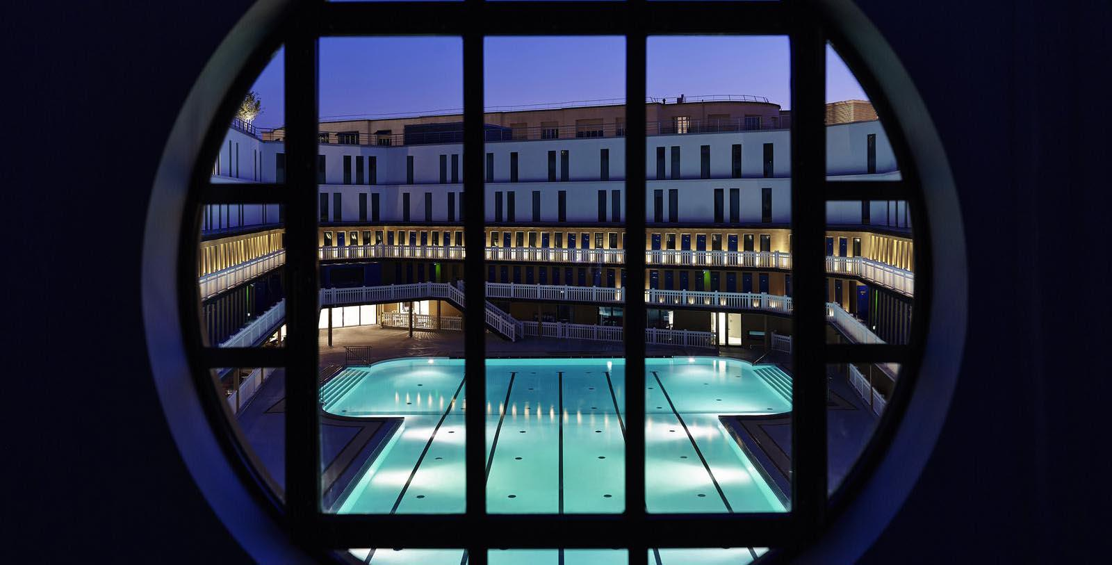 Image of Window Facing Pool Area Hôtel Molitor Paris - MGallery by Sofitel, 1929, Member of Historic Hotels Worldwide, in Paris, France, Discover