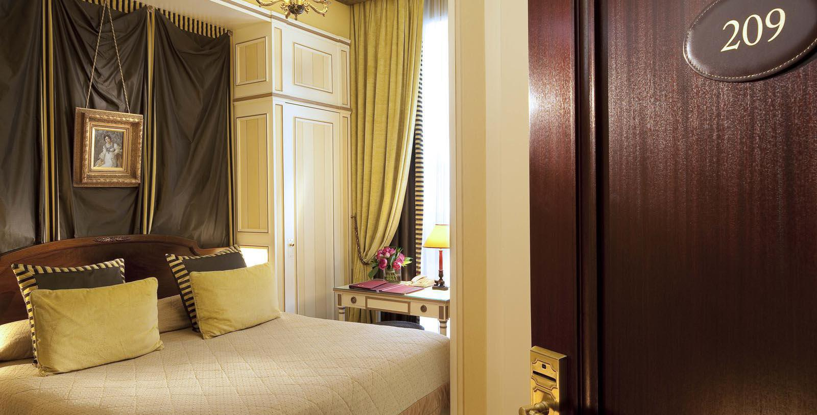 Image of Guestroom Interior, Hotel Napoleon Paris, France, 1928, Member of Historic Hotels Worldwide, Discover