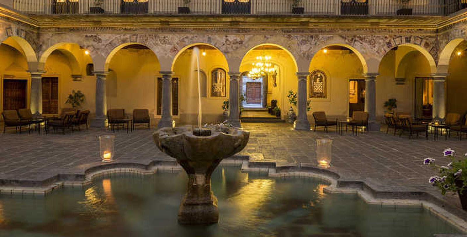 Image of Courtyard with Fountain Quinta Real Puebla, 1593, Member of Historic Hotels Worldwide, in Puebla de Zaragoza, Mexico, Discover