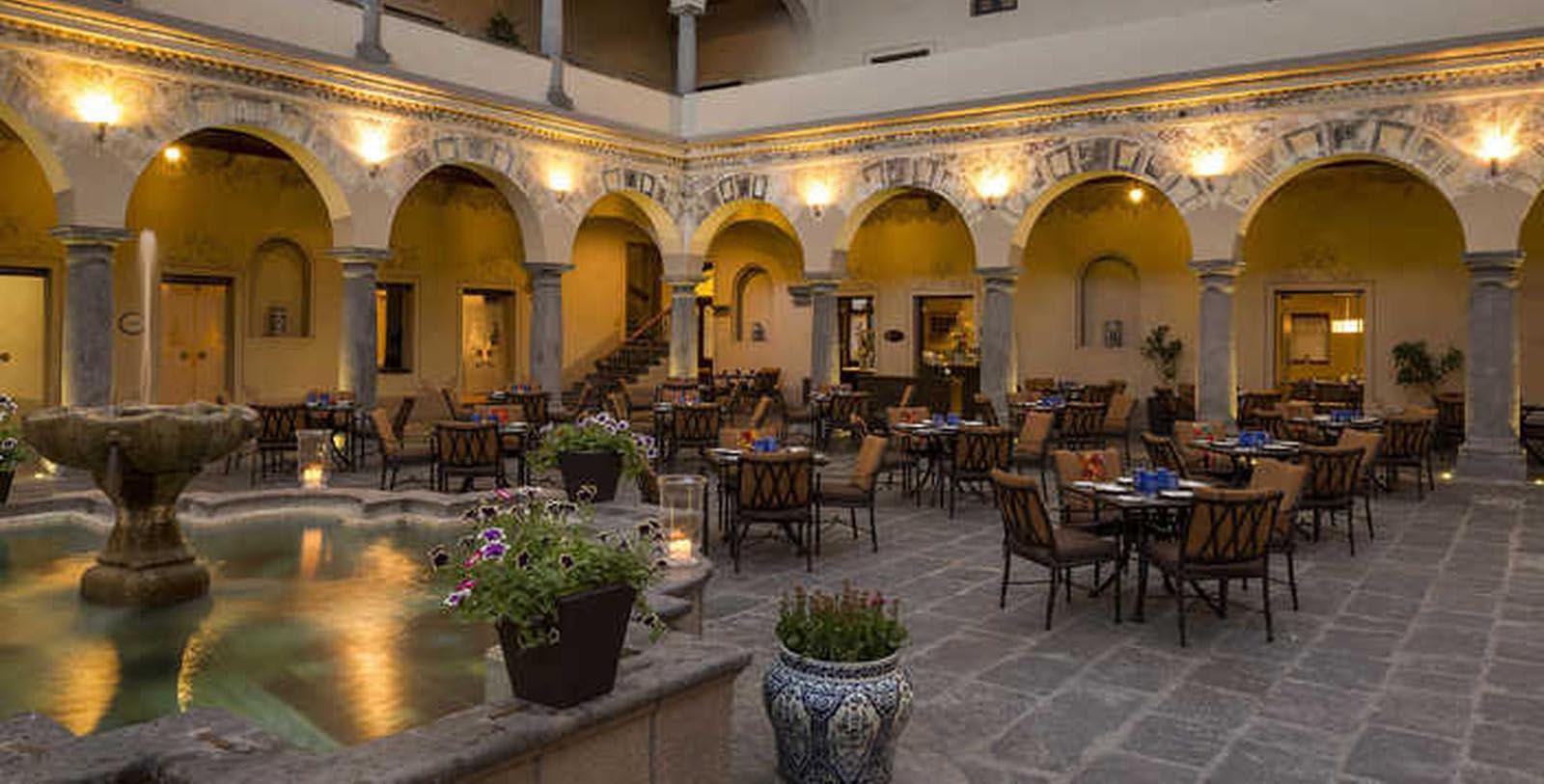 Image of Dining Area Hotel Exterior Quinta Real Puebla, 1593, Member of Historic Hotels Worldwide, in Puebla de Zaragoza, Mexico, Taste