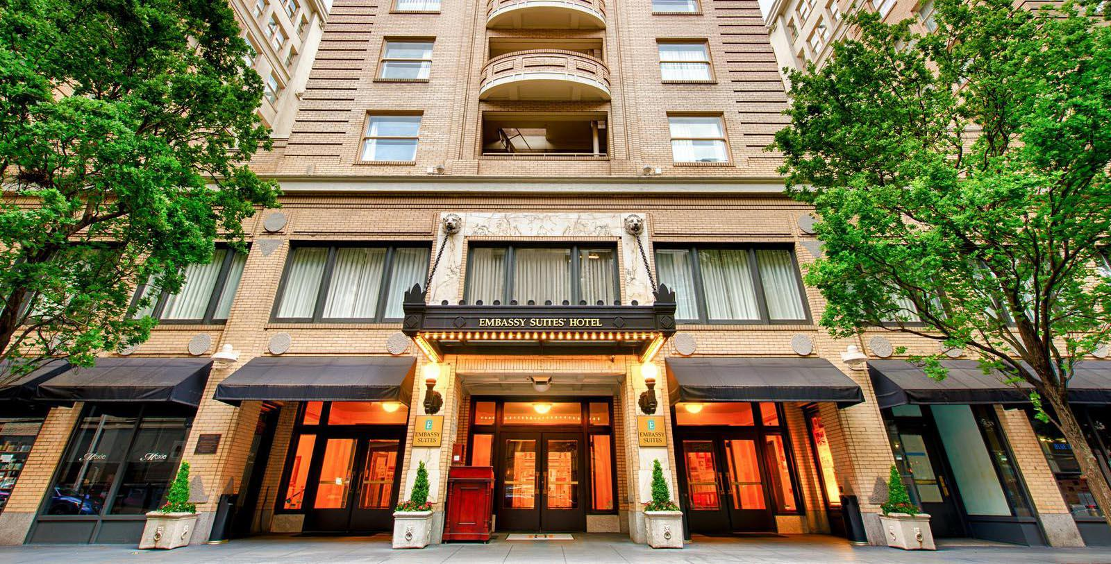 Image of hotel exterior at Embassy Suites by Hilton Portland Downtown, 1912, Member of Historic Hotels of America, in Portland, Oregon, Discover