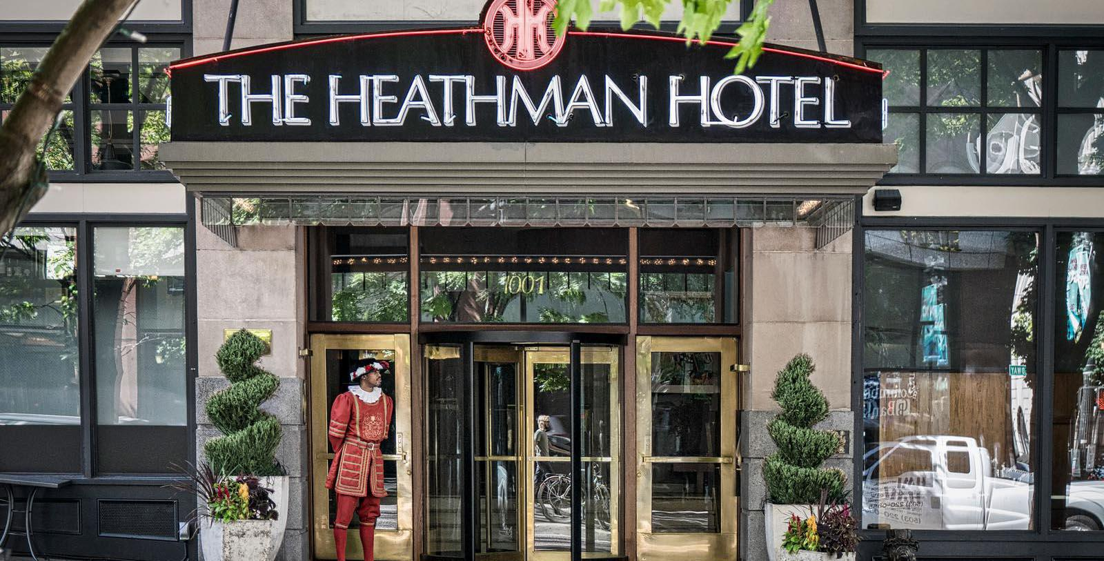 Image of Entrance The Heathman Hotel, 1927, Member of Historic Hotels of America, in Portland, Oregon, Discover