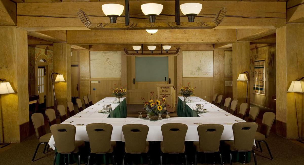 Image of classroom set up meeting Timberline Lodge, 1937, Member of Historic Hotels of America, in Timberline, Oregon, Special Occasions