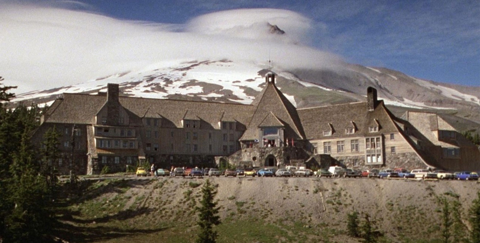 Exterior of the Timberline Lodge as it appeared in 1980 film The Shining, Timberline Lodge, Oregon
