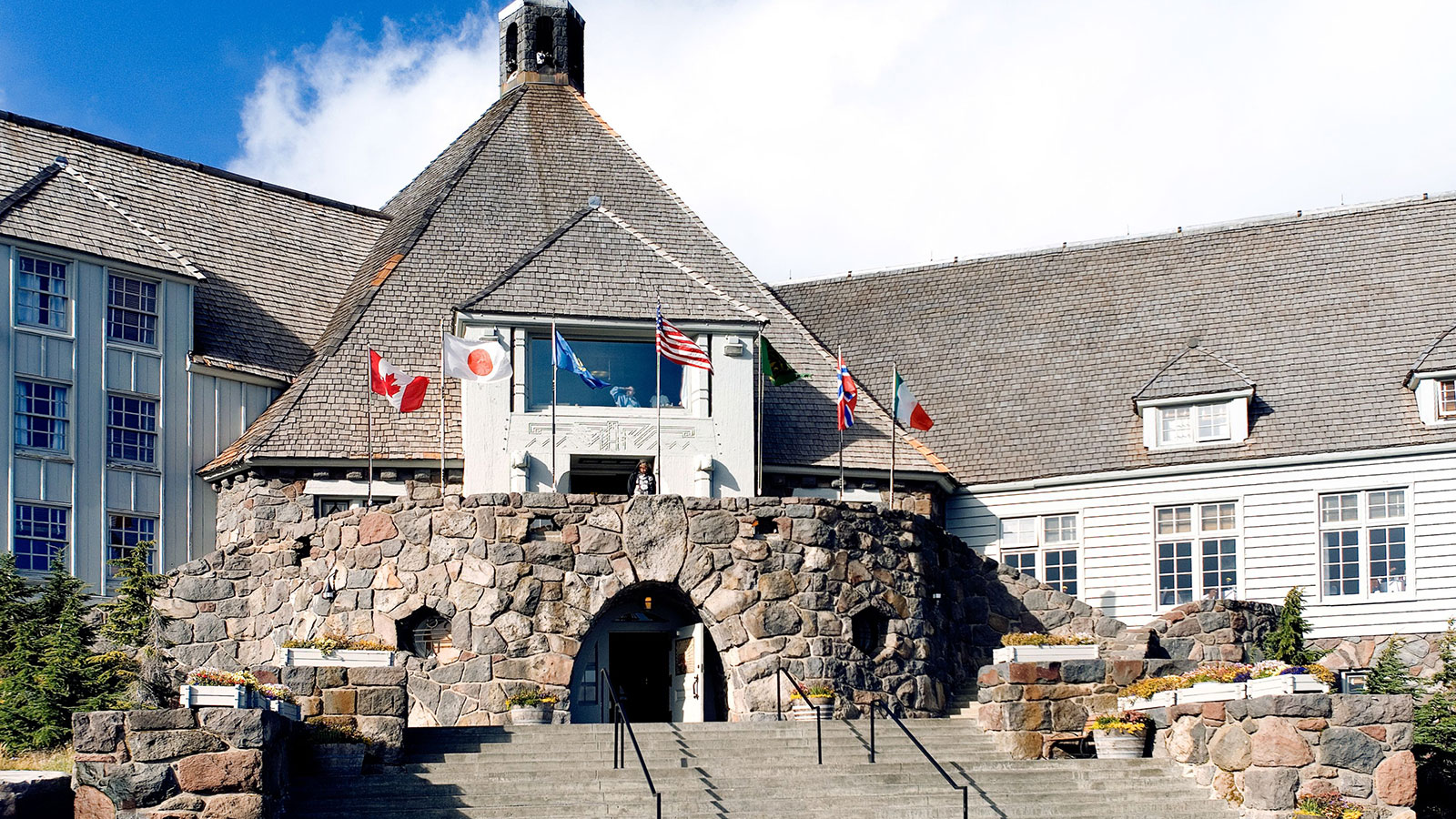 Image of hotel exterior Timberline Lodge, 1937, Member of Historic Hotels of America, in Timberline, Oregon, Overview