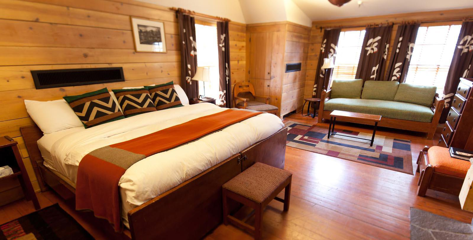 Image of guestroom Timberline Lodge, 1937, Member of Historic Hotels of America, in Timberline, Oregon, Location Map