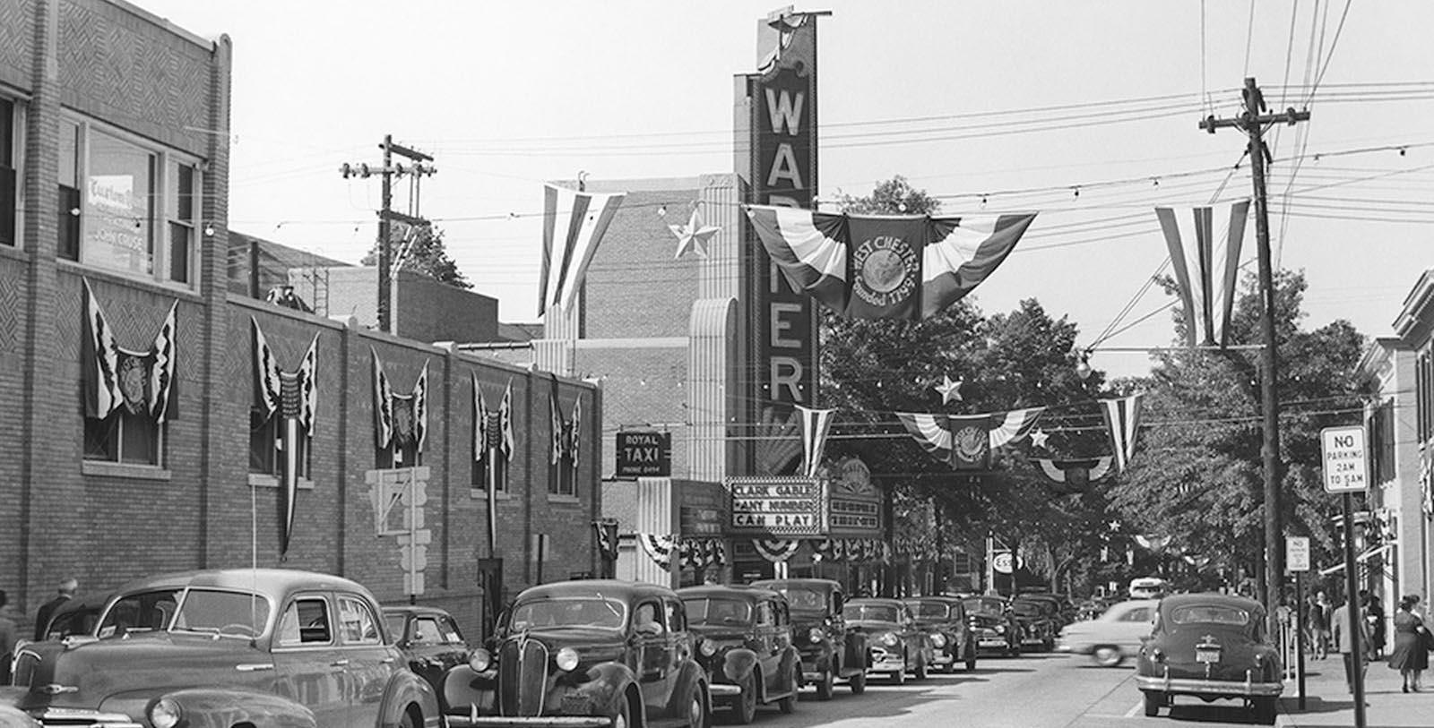 Image of Historic Exterior, Hotel Warner in West Chester, Pennsylvania, 1930, Member of Historic Hotels of America, Discover