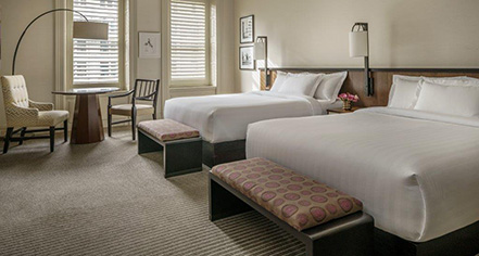 Accommodations:      The Bellevue Hotel  in Philadelphia