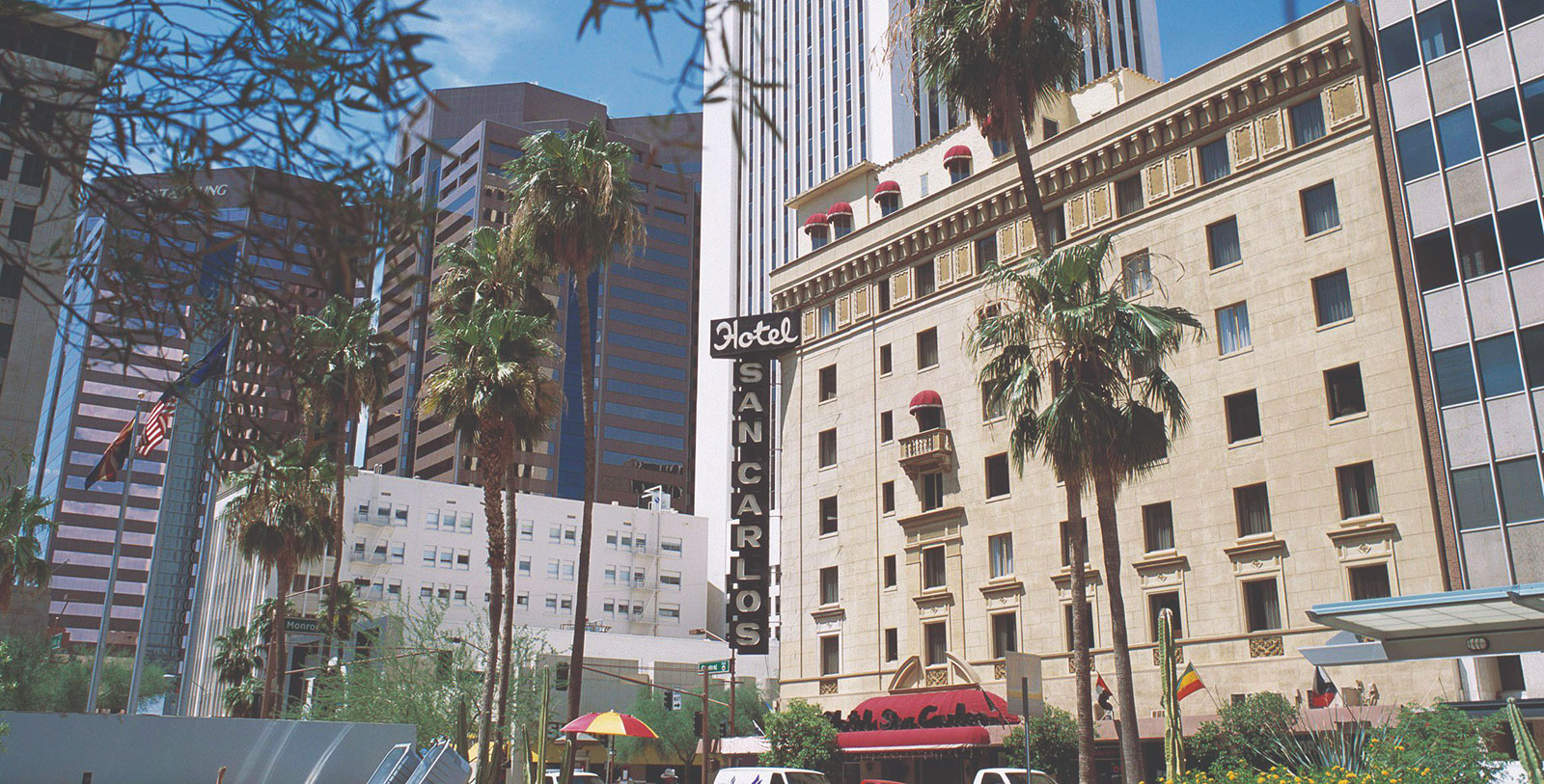 Image of Exterior, Hotel San Carlos in Phoenix Arizona, 1928, Member of Historic Hotels of America, Overview