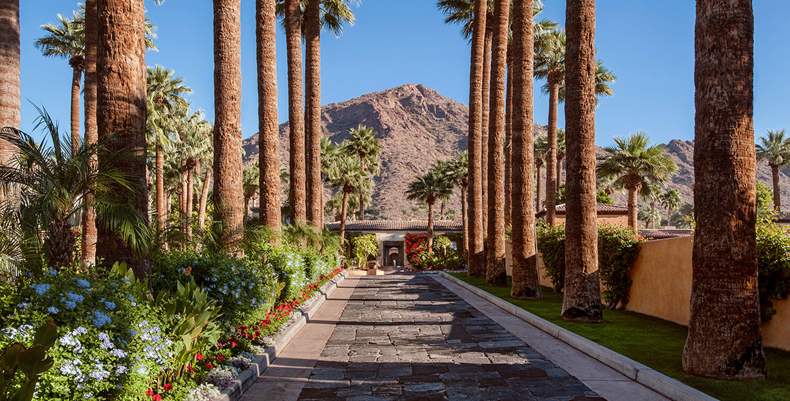 Image of Entrance to Royal Palms Resort and Spa, 1948, Member of Historic Hotels of America, in Phoenix Arizona, Overview