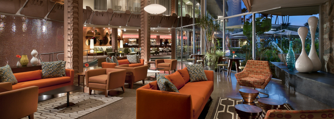 Image of Lobby Seating, Hotel Valley Ho, Scottsdale, 1956, Arizona, Member of Historic Hotels of America, Experience