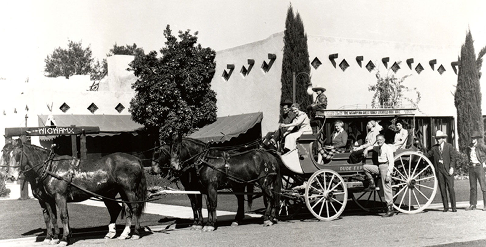 Historic Image of Carriage Outside The Wigwam, 1929, Member of Historic Hotels of America, in Litchfield Park, Arizona, Discover