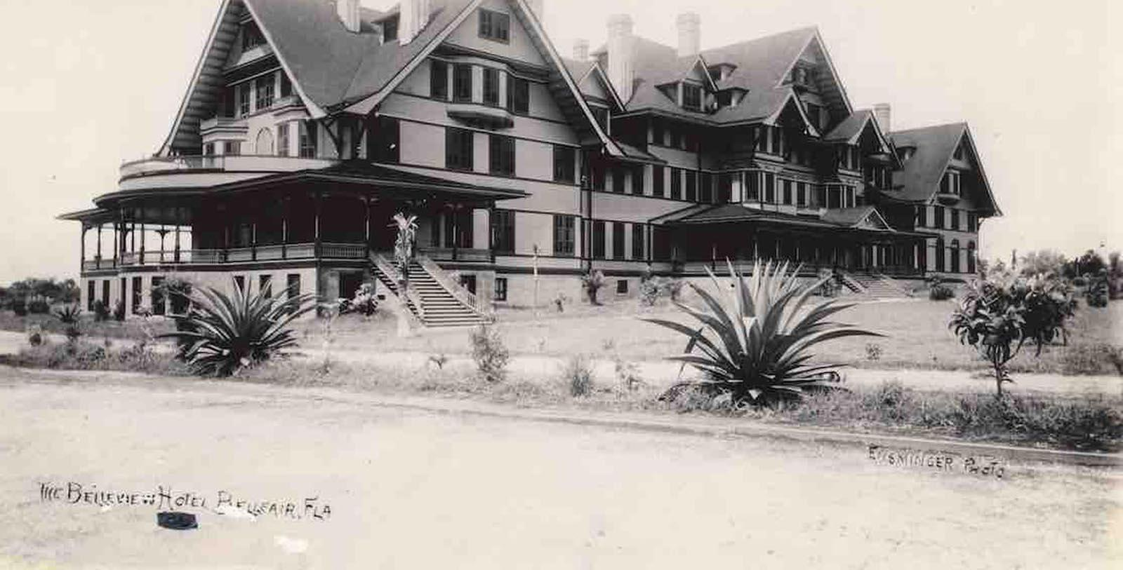 Historic image of hotel exterior at Belleview Inn, 1897, Member of Historic Hotels of America, in Belleair, Florida, Discover