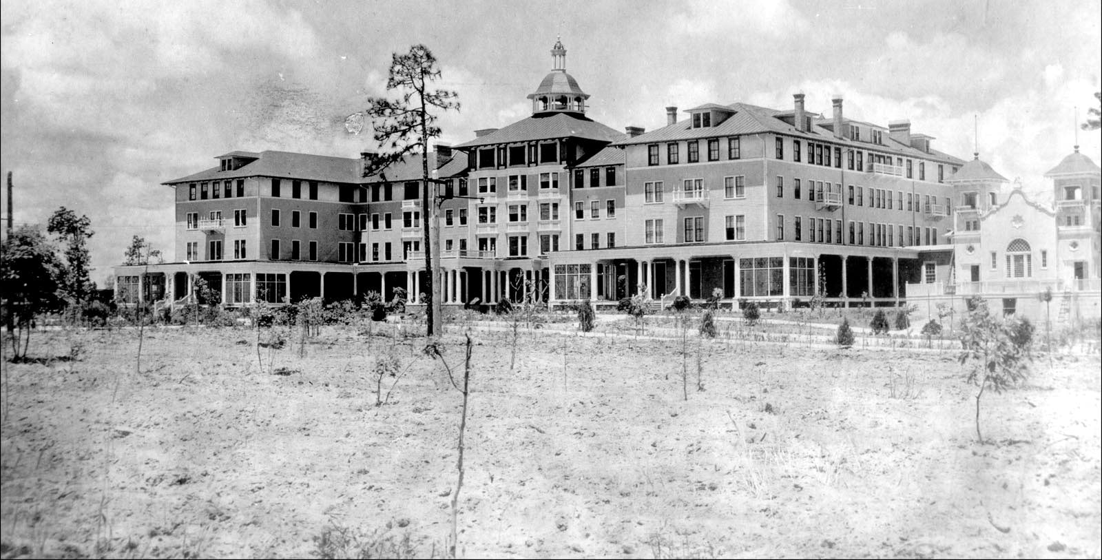 Historic Exterior Image of Pinehurst Resort, 1895, Member of Historic Hotels of America, in Village of Pinehurst, North Carolina, Discover