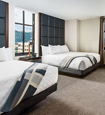 Accommodations:      Distrikt Hotel Pittsburgh, Curio Collection by Hilton  in Pittsburgh
