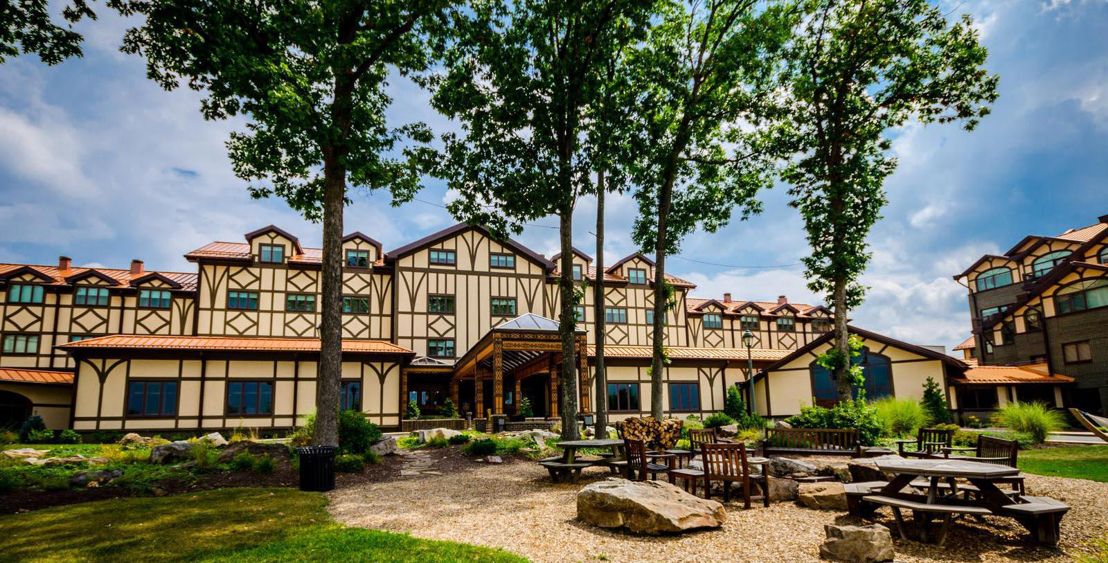 Image of Hotel Exterior The Lodge at Nemacolin Woodlands Resort, 1968, Member of Historic Hotels of America, in Farmington, Pennsylvania, Discover