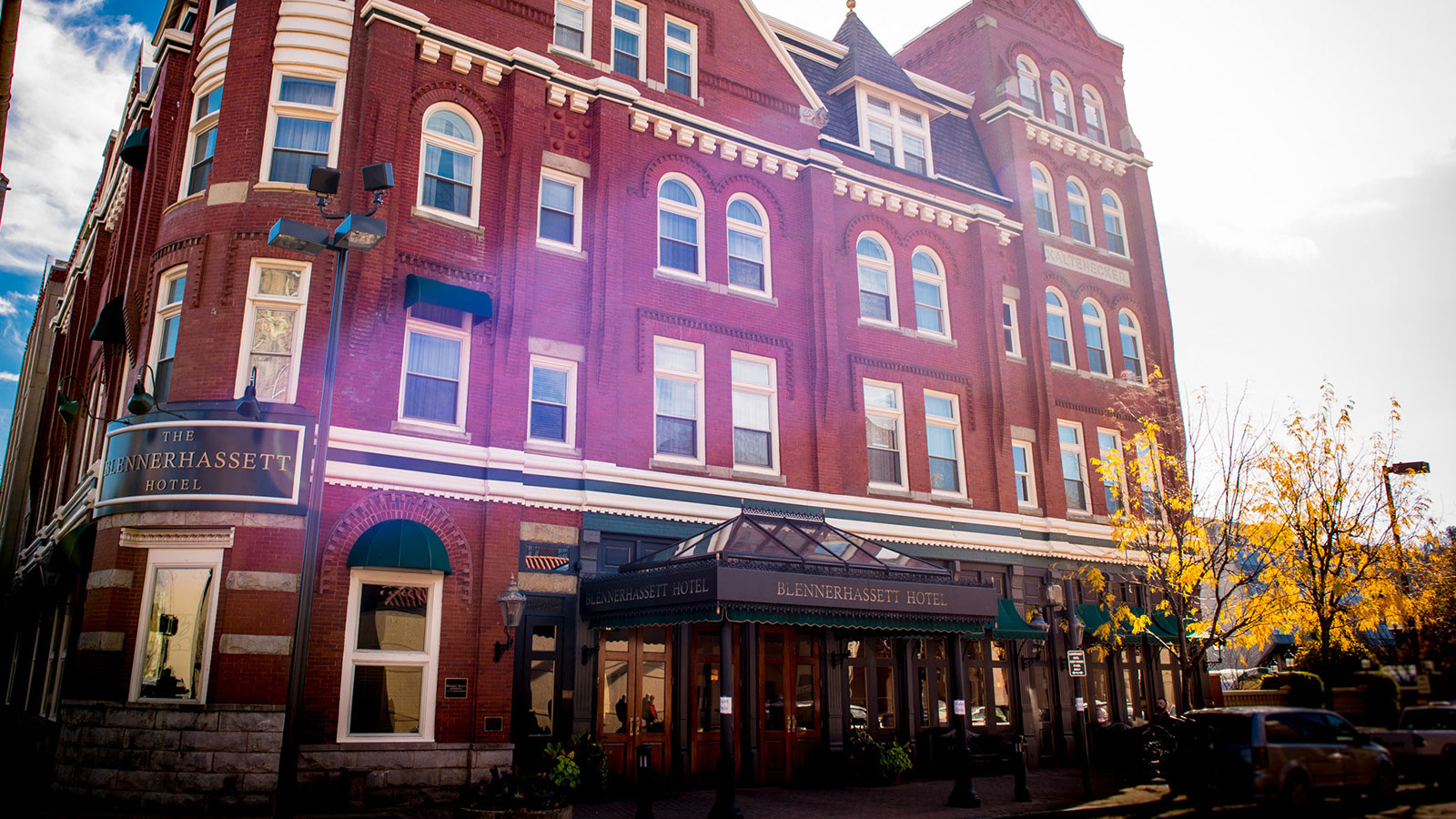 Image of Entrance The Blennerhassett Hotel, 1889, Member of Historic Hotels of America, in Parkersburg, West Virginia, Overview
